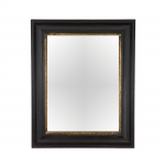 CONVEX MIRROR GLASS WOOD FRAME