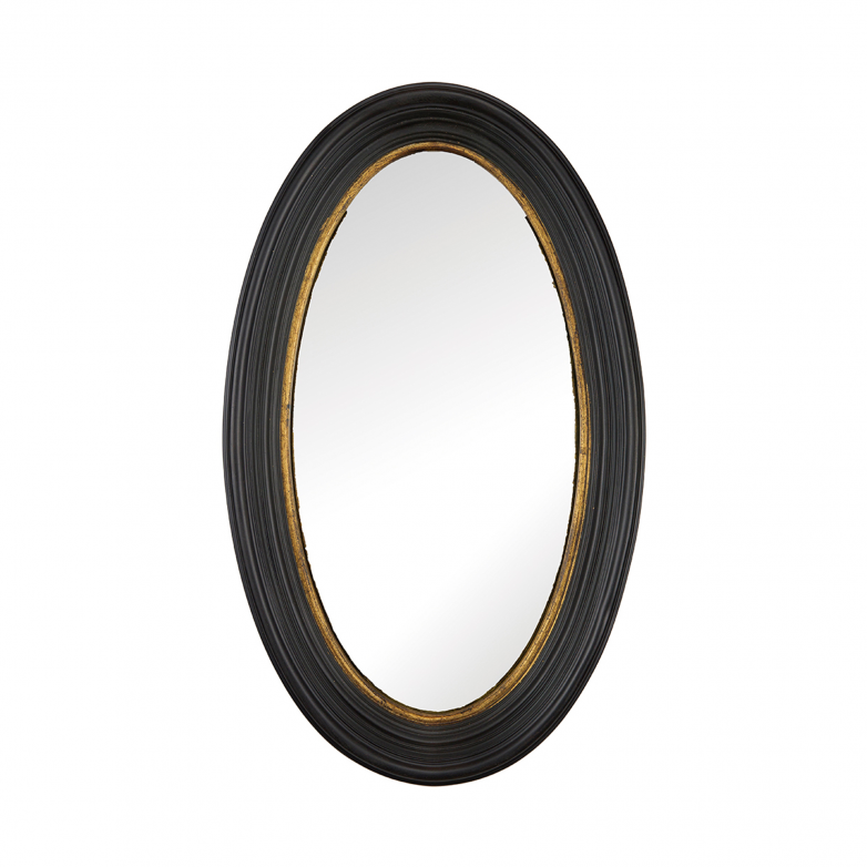 OVAL MIRROR WITH WOOD FRAME S