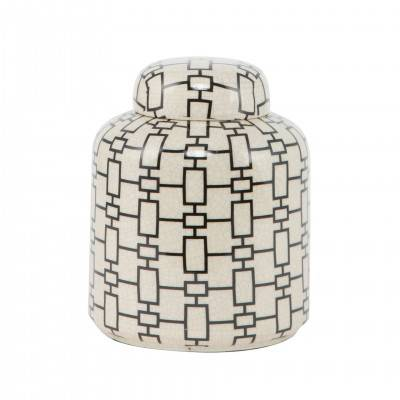 DECORATIVE POT GEOMETRIC PATTERN