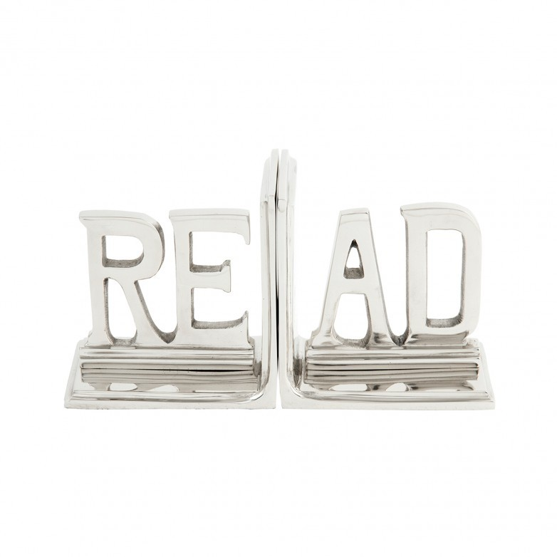 METALIC BOOK END READ