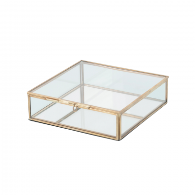 GLASS AND METAL DECORATIVE BOX 18