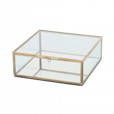 DECORATIVE METAL AND GLASS BOX 20