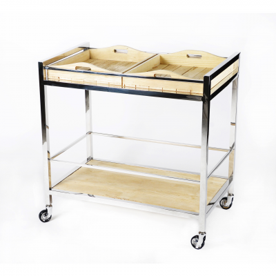 BAR TROLLEY WOOD AND METAL
