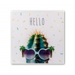 PICTURE HELLO CACTUS WITH FRAME