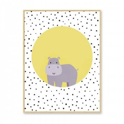 PICTURE HIPPO WITH FRAME