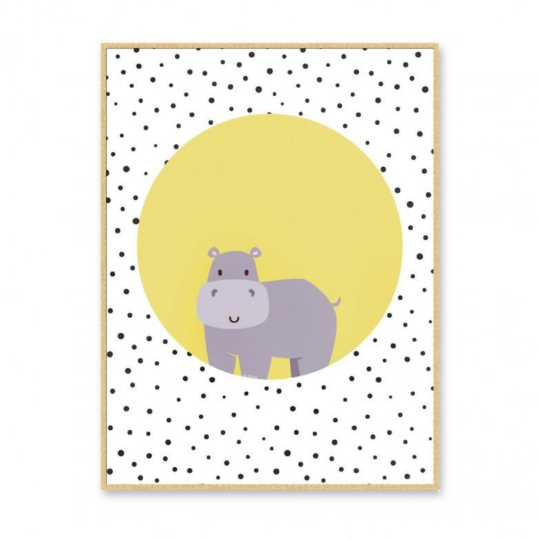 QUADRO HIPPO COM MOLDURA