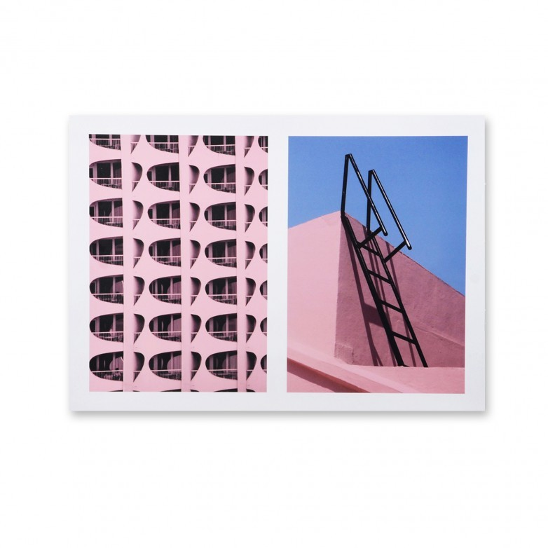 PICTURE ARCHI PINK WITH FRAME.