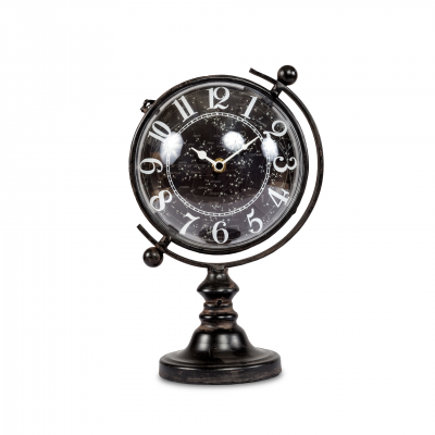 TABLE CLOCK GLOBE