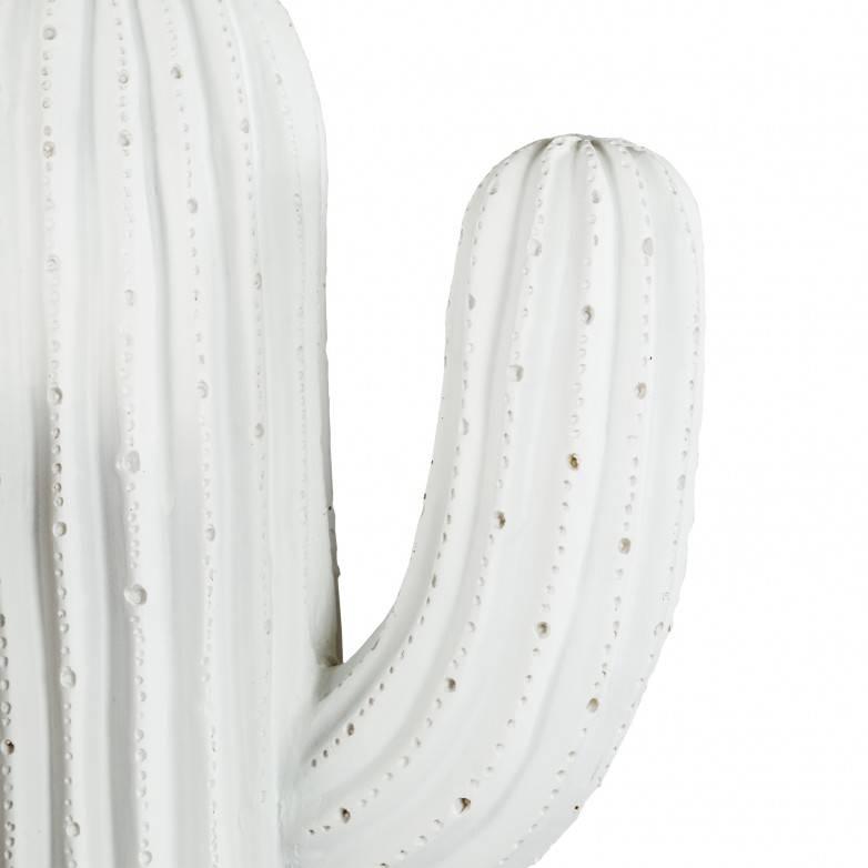 DECORATIVE WHITE CACTUS FIGURE XL