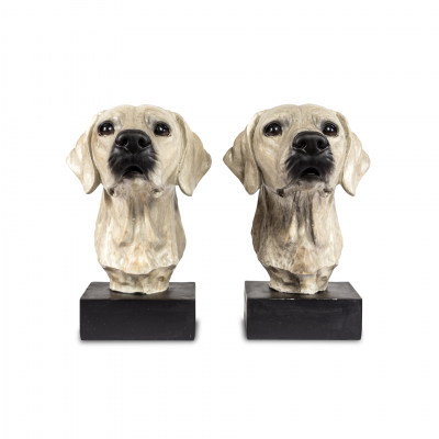 BOOK END DOG FIGURE