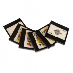 SET OF COASTERS QUEEN-KING-ACE