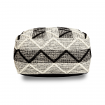 PUFF COTTON BLACK&GREY ZIG ZAG PATTERN