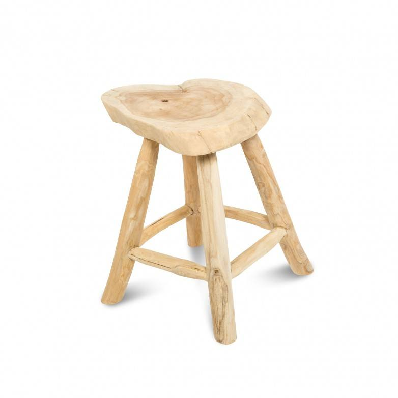 STOOL IN NATURAL WOOD