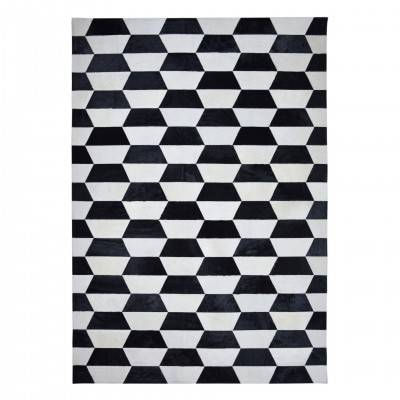 BLACK & WHITE MERENGUE RUG