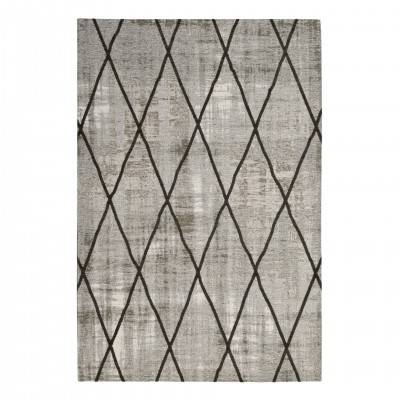 SILVER & GREY ANTIK CHENILLE CROSS RUG