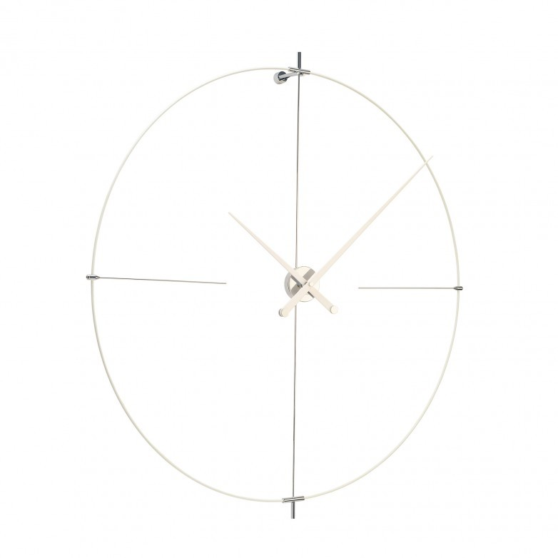 BILBAO ALL WHITE WALL CLOCK