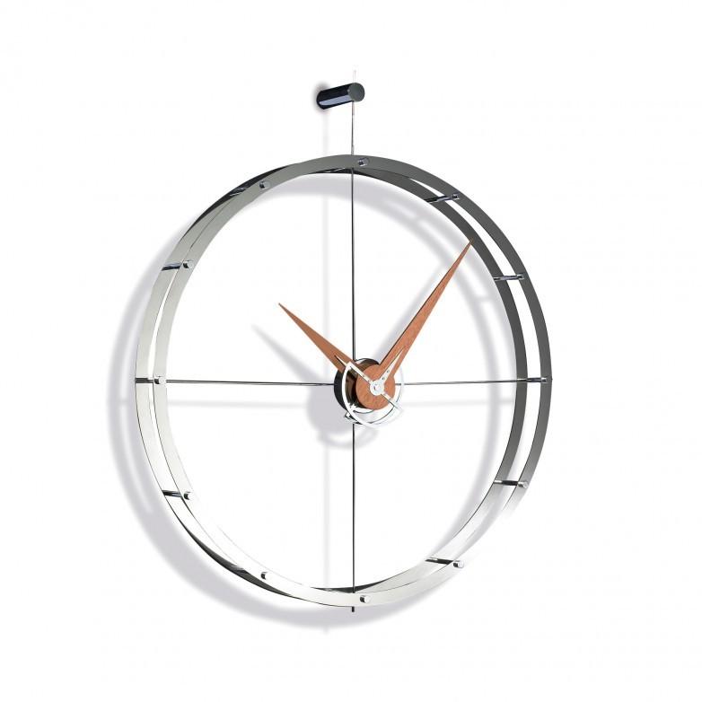 DOBLE O CHROME WALL CLOCK