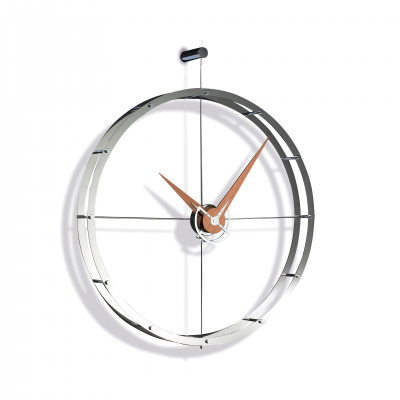 DOBLE O CHROME WALL CLOCK