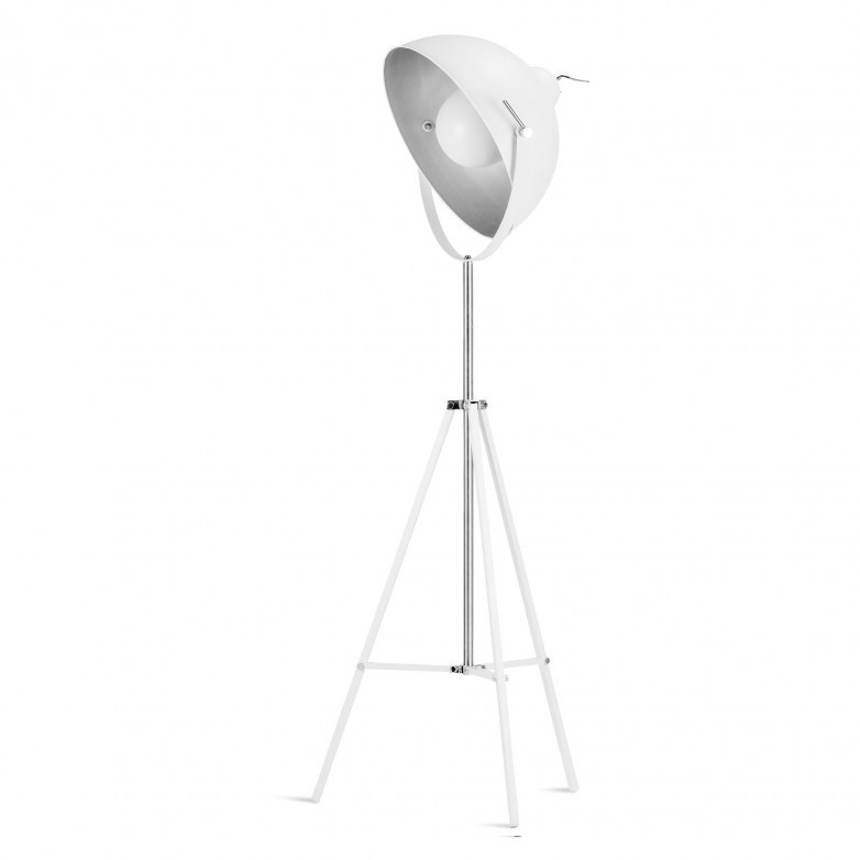 WHITE HOLLYWOOD FLOOR LAMP