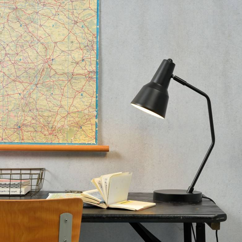BLACK VALENCIA TABLE LAMP