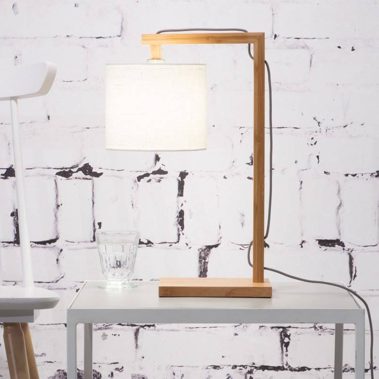 WHITE HIMALAYA TABLE LAMP