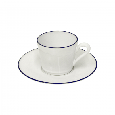 SET OF 6 WHITE BEJA TEA CUPS AND PLATES