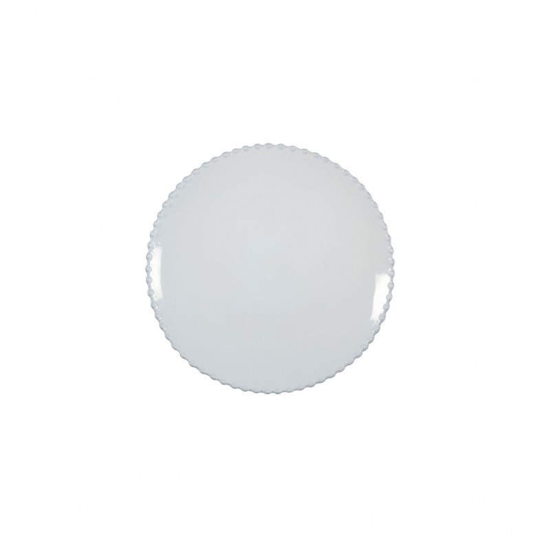 SET OF 6 PEARL WHITE SALAD PLATES