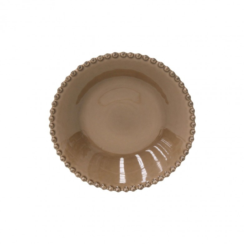 SET 6 PEARL BROWN SOUP/PASTA PLATES - COSTA NOVA
