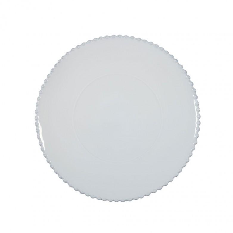 SET OF 2 PEARL WHITE CHARGER PLATES - COSTA NOVA