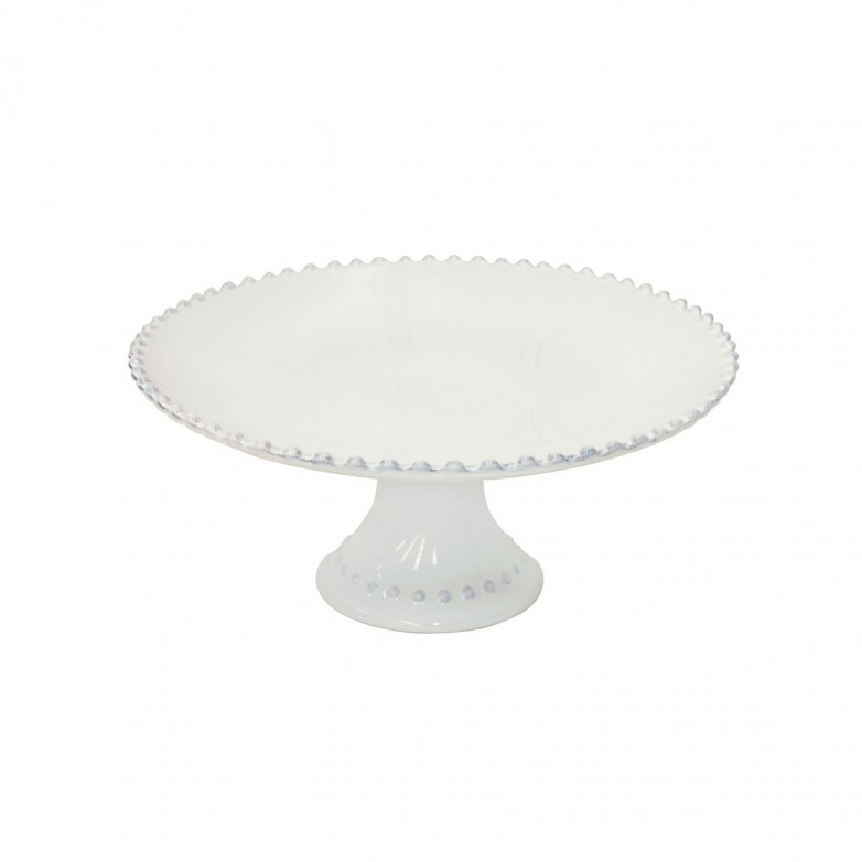 PEARL WHITE FOOTED PLATE - COSTA NOVA