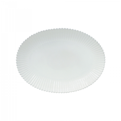 TRAVESSA OVAL 50CM PEARL BRANCO - COSTA NOVA