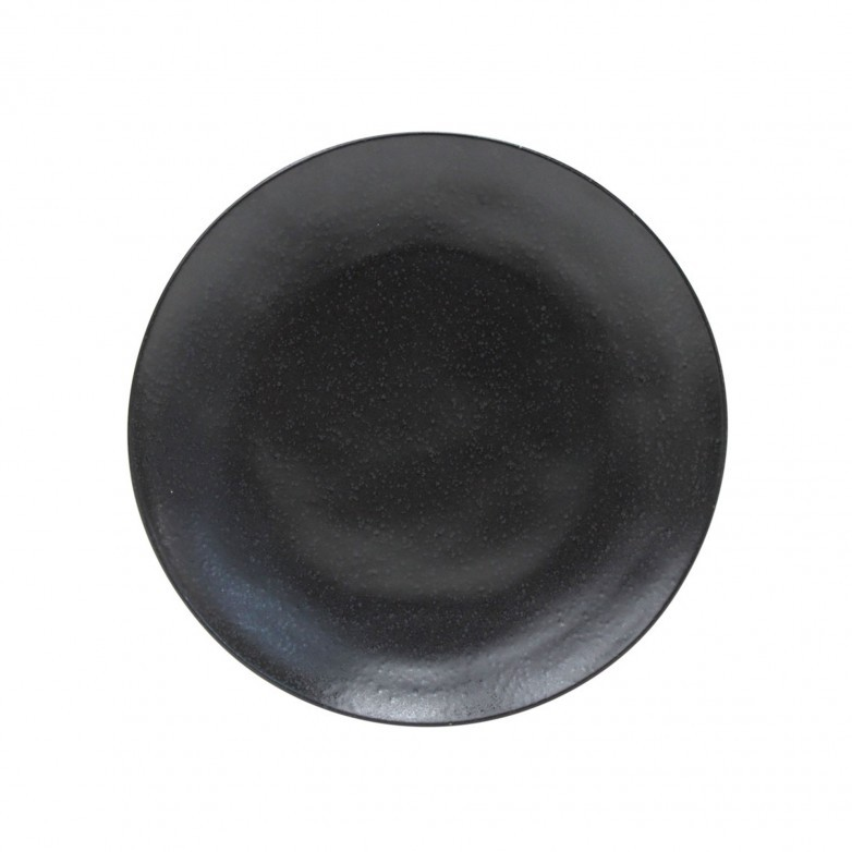 SET 6 RIVIERA SABLE NOIR DINNER PLATES COSTA NOVA