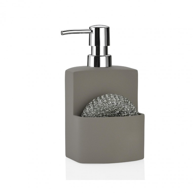 DISPENSADOR DE SABON GRIS