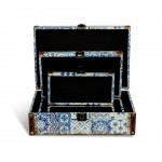 SET 3 CAIXAS DECORATIVAS AZULEJOS S