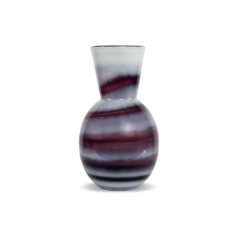 VASE COLORED GLASS