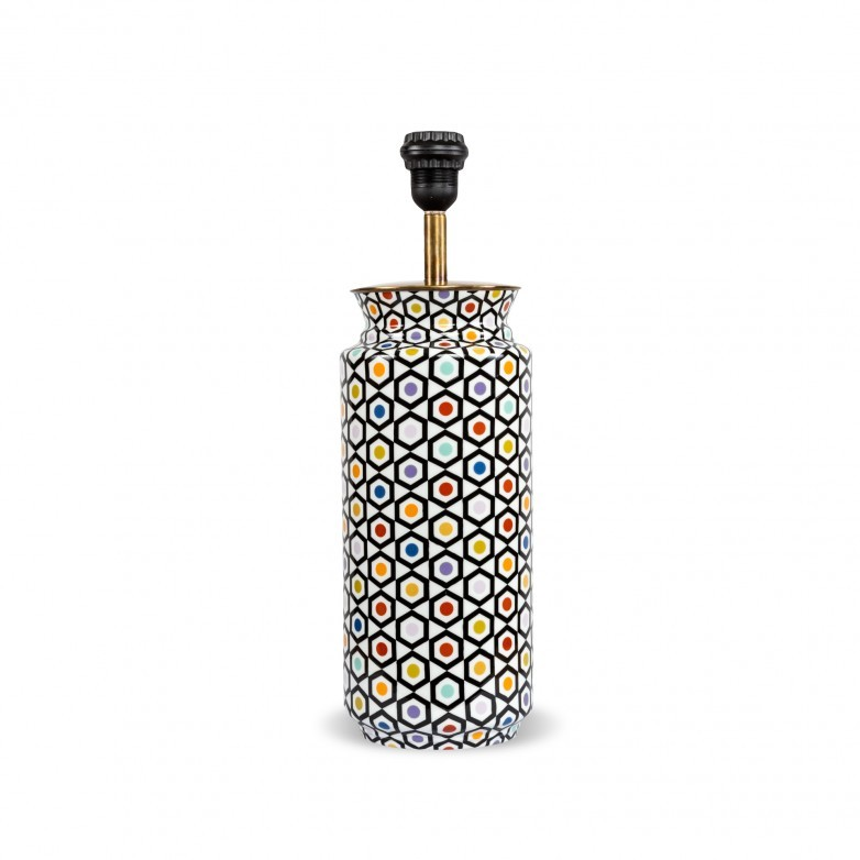 TABLE LAMP BASE DOTS PATTERN