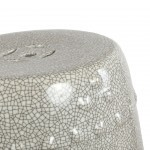 STOOL PORCELAIN CRACKED EFFECT