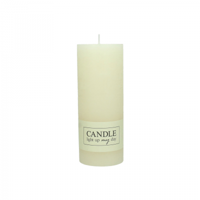 SET OF 8 BEIGE CANDLES 18