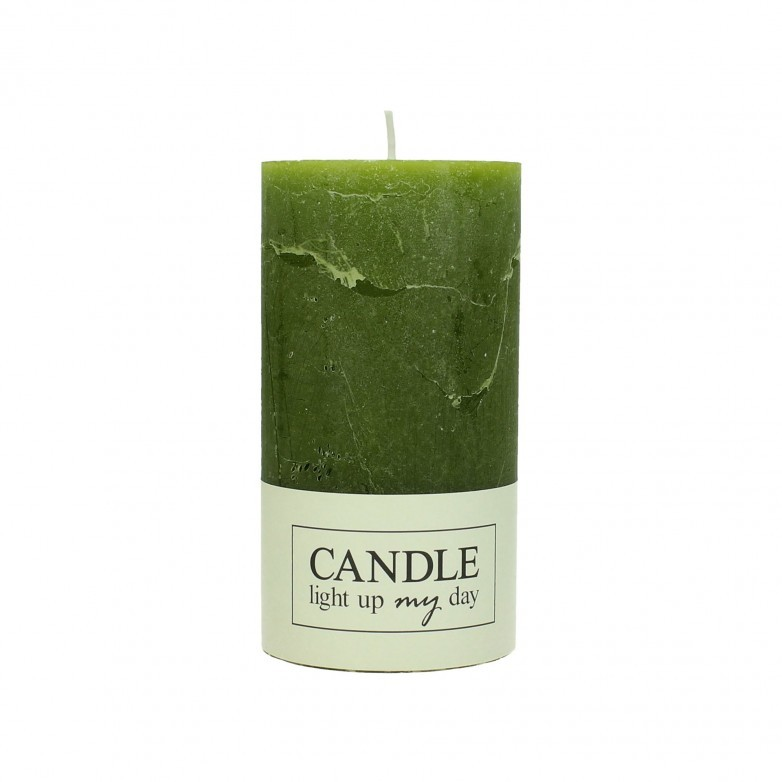 SET OF 8 GREEN CANDLE 13