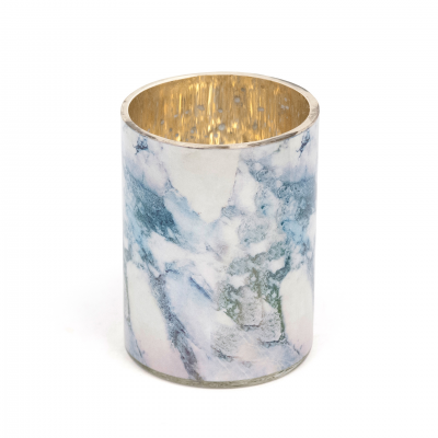 MARBLE LOOK TEALIGHT HOLDER