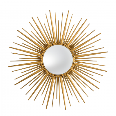 MIRROR SUN FORMAT ANTIQUE GOLD FINISH