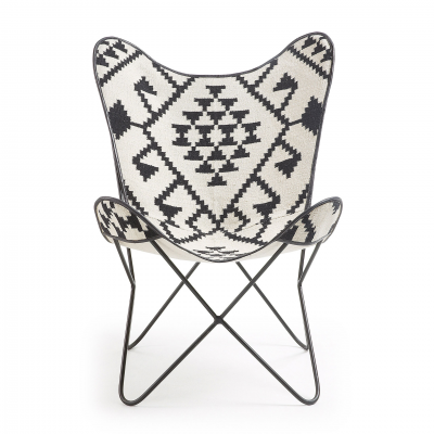 CALIFORNIA BLACK & WHITE ARMCHAIR