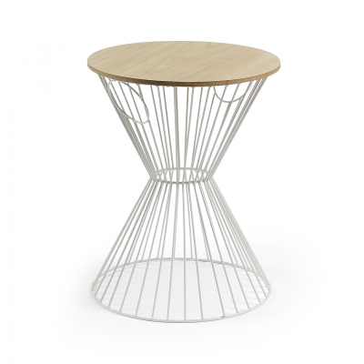 XANGAI WHITE SIDE TABLE