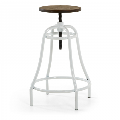 BROOKLYN WHITE BAR STOOL