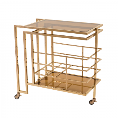 BAR TROLLEY GOLD METAL