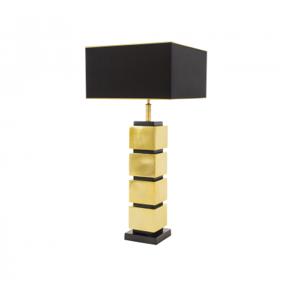 TABLE LAMP CUBES GOLD AND BLACK