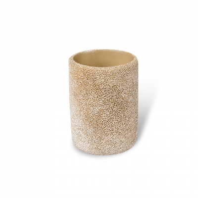 BRUSH HOLDER CORAL EFFECT BEIGE