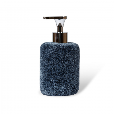 SOAP DISPENSER CORAL EFFECT BLUE