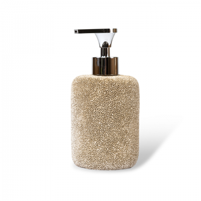 SOAP DISPENSER CORAL EFFECT BEIGE