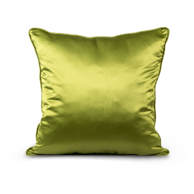 LIGHT GREEN SILK CUSHION FLANGED